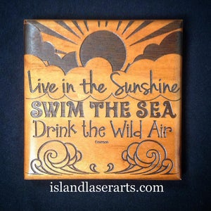 Image of Live in the Sunshine Plaque