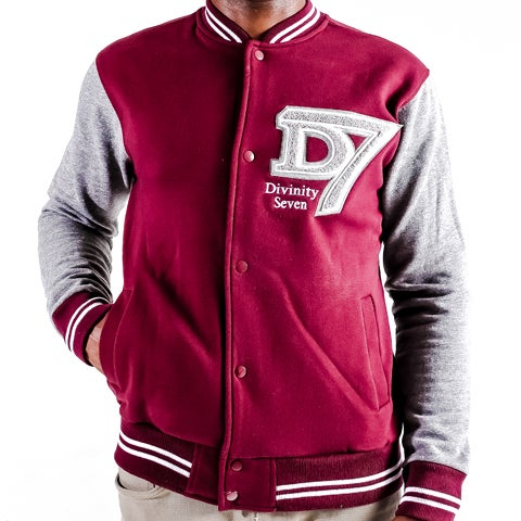 Image of D7 gray & maroon varsity