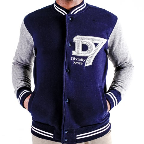 Image of D7 grey & navy varsity