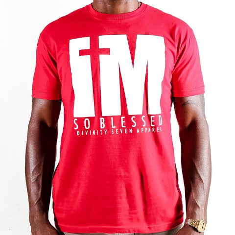 Image of I'm blessed Tee Red