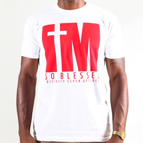 Image of I'm blessed tee white