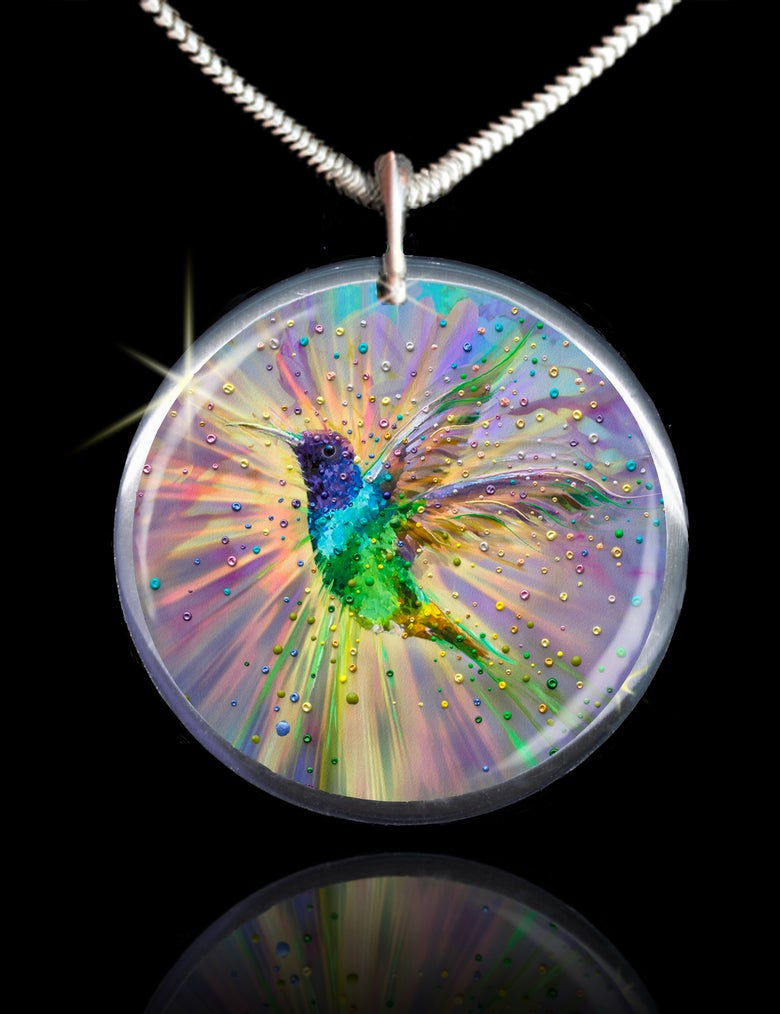 Image of Hummingbird Magic Energy Pendant