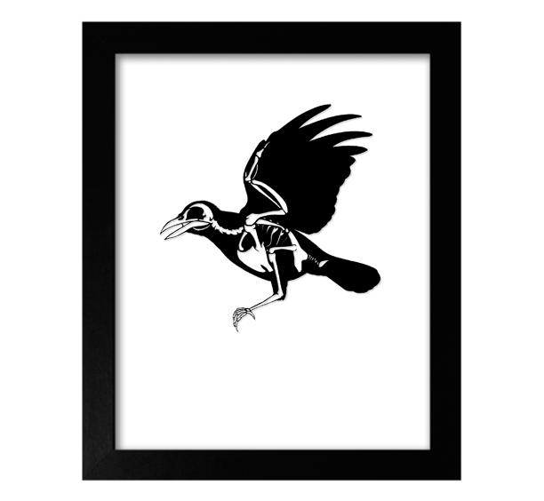 Image of Bird Skeleton Papercut