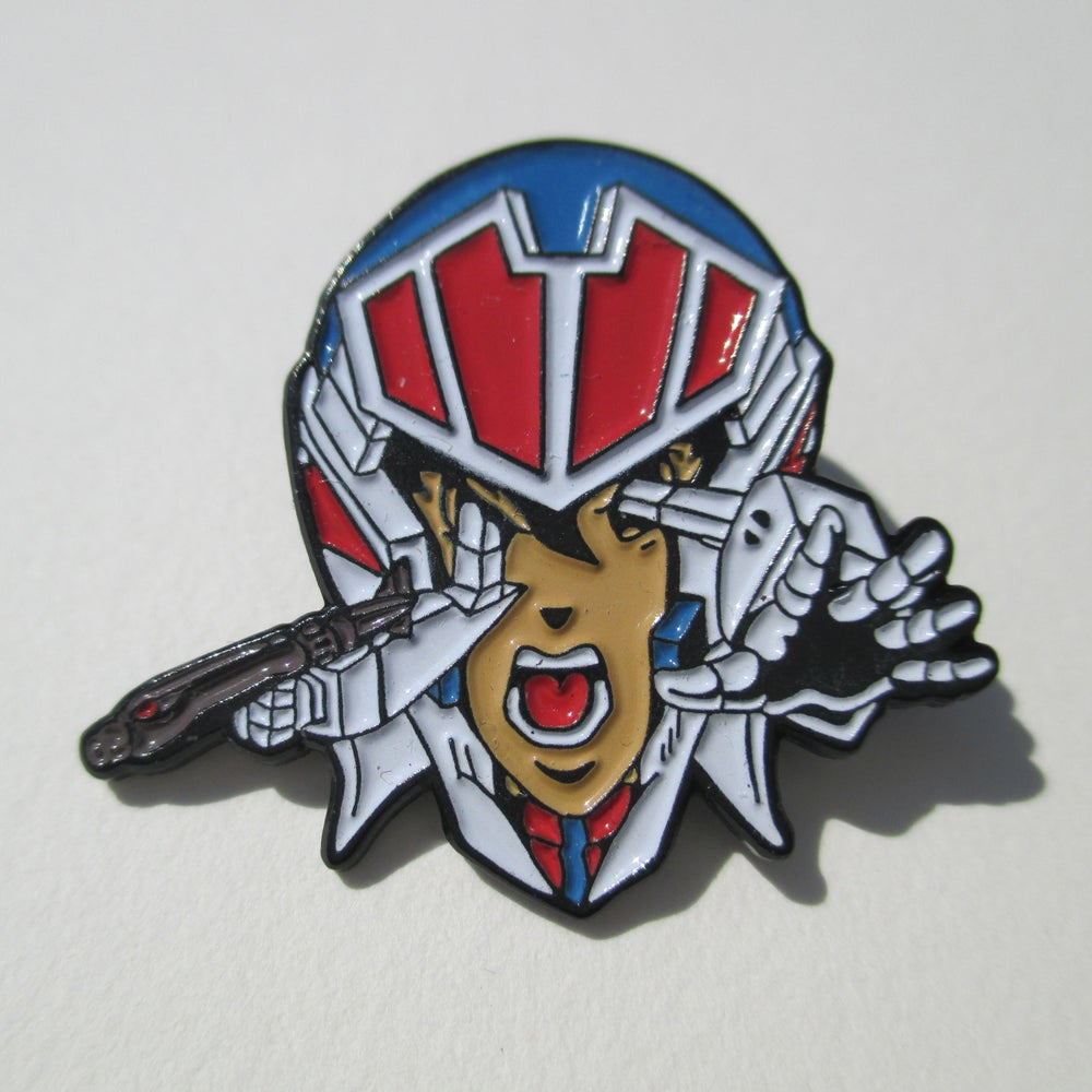 "Image of ""Rick Hunter"" Robotech enamel pin"