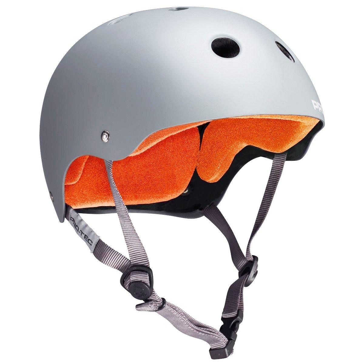 Image of PROTEC CLASSIC SKATE HELMET - GREY/ORANGE