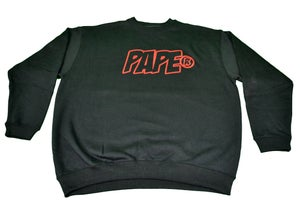 Image of Paperstack Apparel 'PAPE' Bred Crewneck (Varsity Red/Black) RRP $59.95
