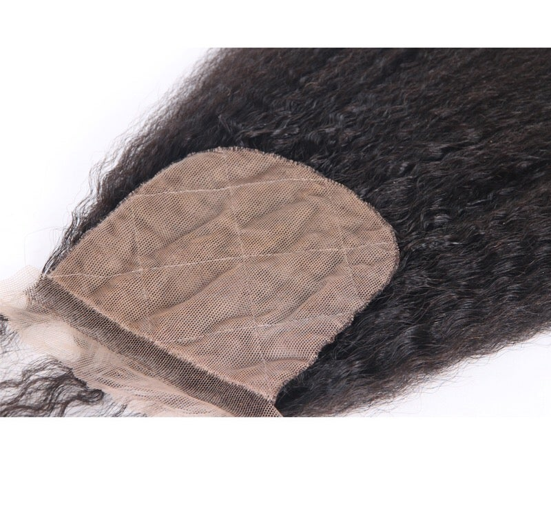 Image of Kinky straight silk base closure