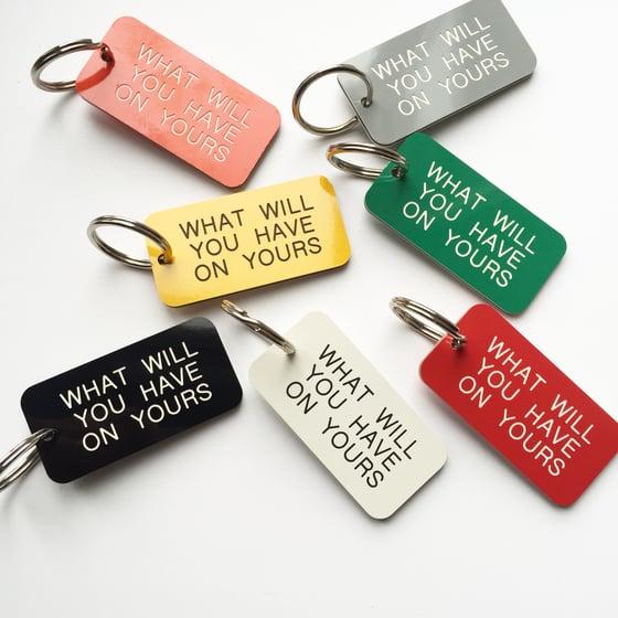 Image of Industrial Locker Style Keyring - personalised to order