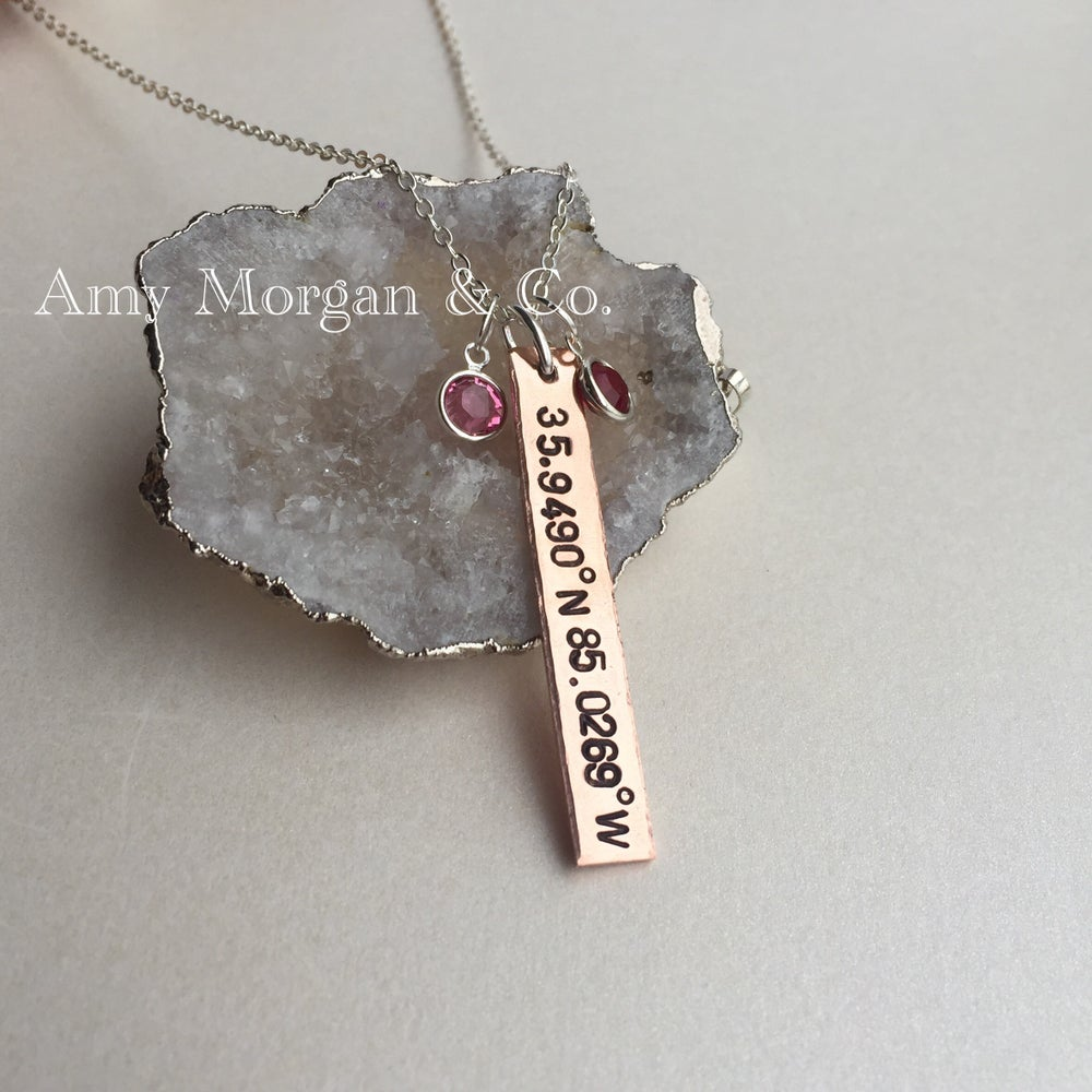 Image of Hand stamped bar necklace