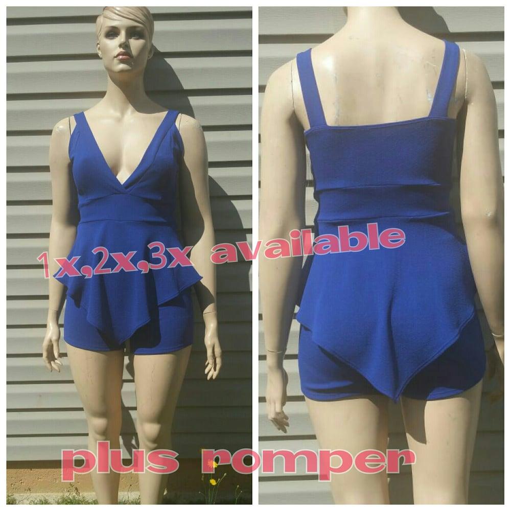 Image of Plus Blue Romper
