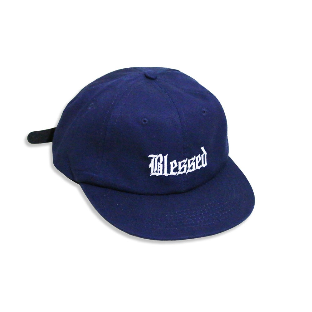 Image of BLESSED OE 6-PANEL CAP (NAVY)