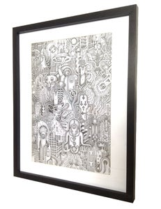 Image of 'ShroomKastel' - Framed Original
