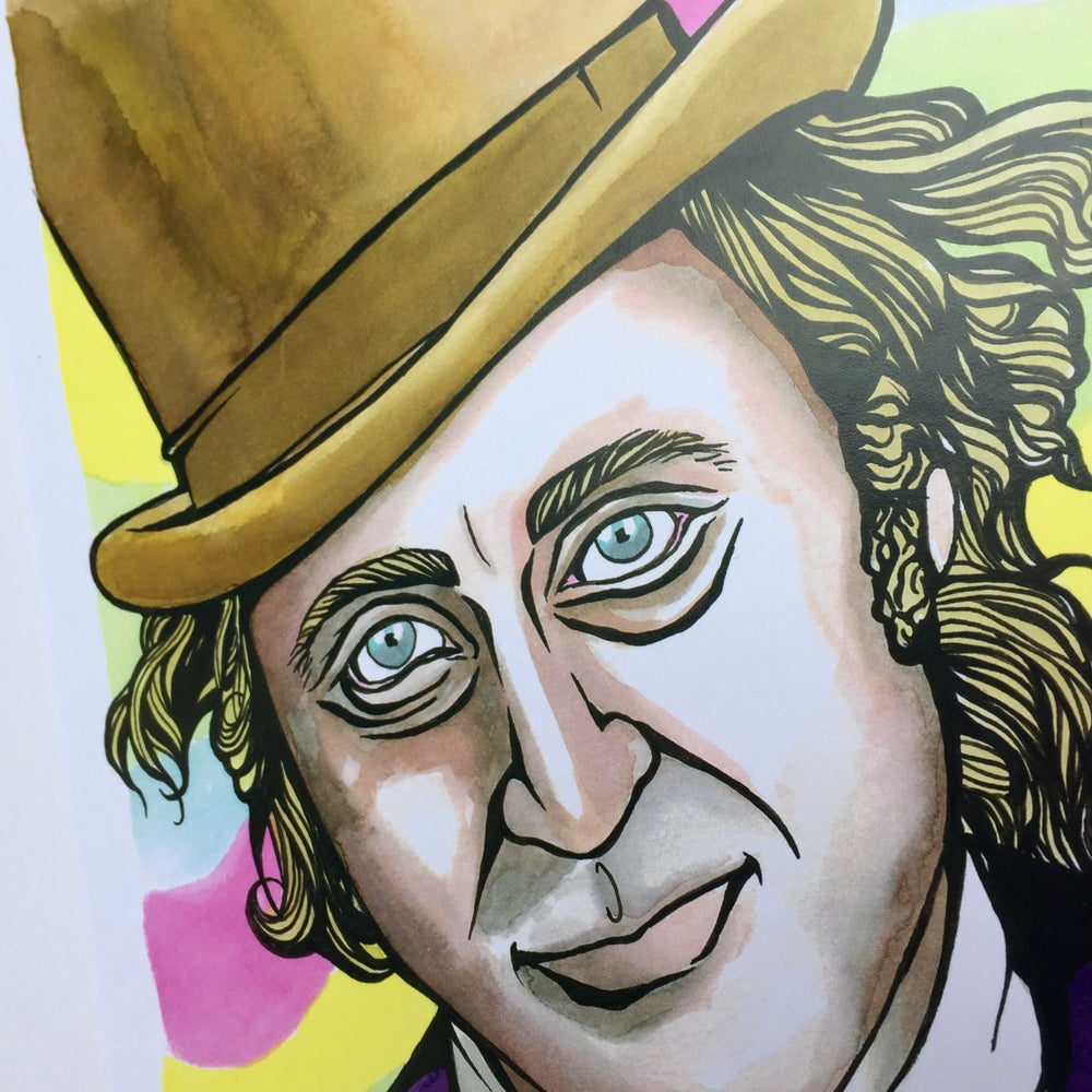 Image of Willy Wonka A4 Print