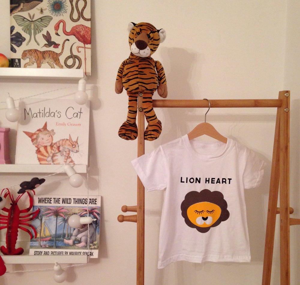 Image of lion heart tee