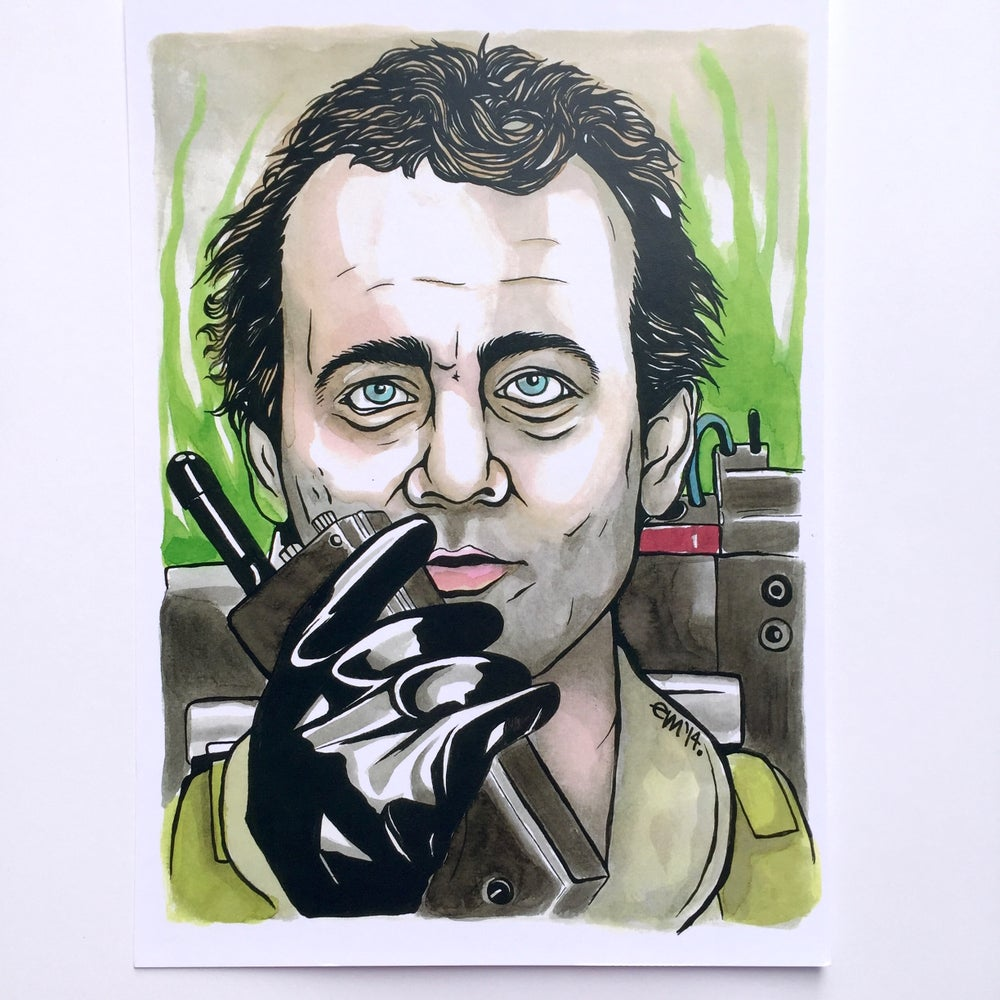 Image of Peter Venkman A4 Print