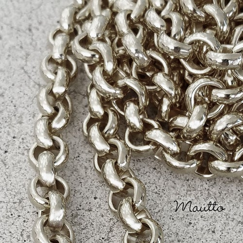 "Image of NICKEL Chain Luxury Strap - Classic Rolo Chain - 1/4"" (7mm) Wide - Choose Length & Clasps"