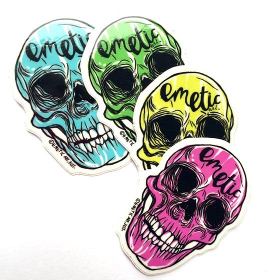 Image of Emetic Art skull sticker
