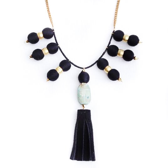 Image of Sunscarab Noir necklace