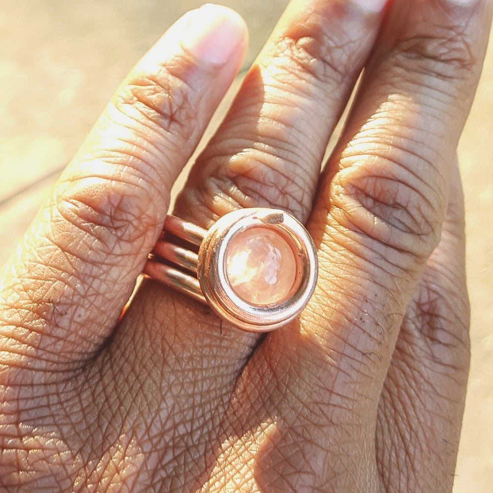 Image of Rose Quartz Crystal Luminary Ring