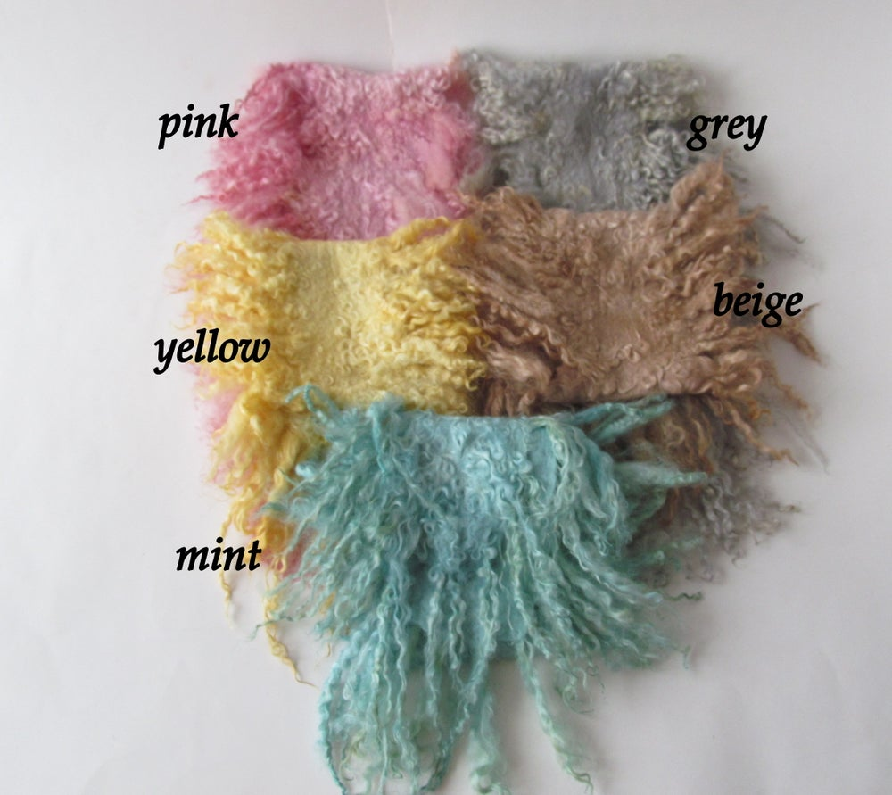 Image of Long Curly Layer, Baby Wool Wrap, Pick Colour