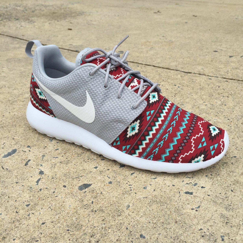 "Image of Custom Nike Roshe One ""Maroon Aztec"""