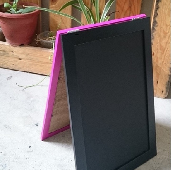Two Sided Black and Black Chalkboard