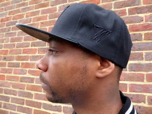 Black Leather Peak Snapback - Moore Vigilance