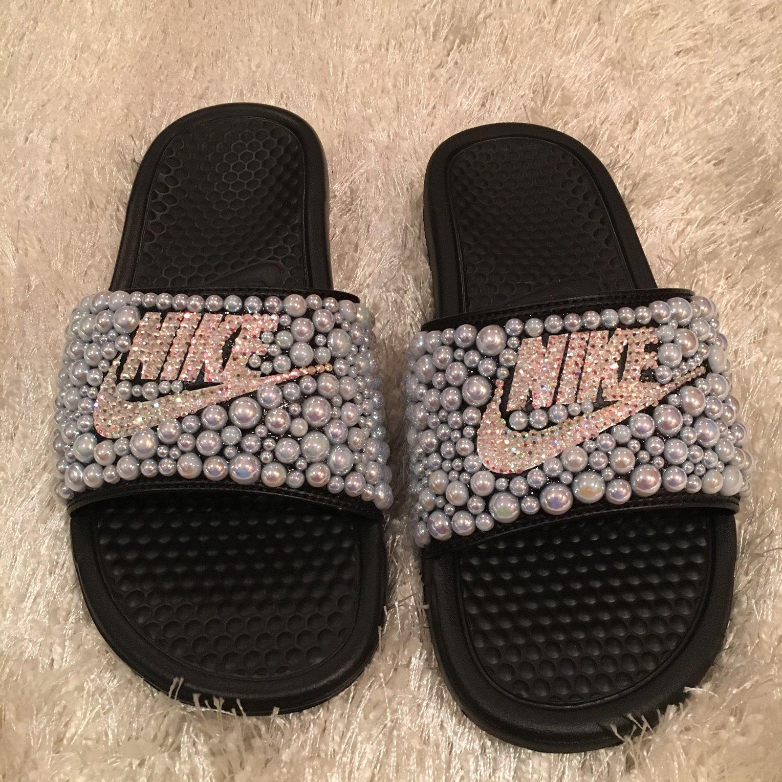 Iridescent Creationsbytm Swarovski Crystal Nike Pearl Custom Sandals 7wxfqf