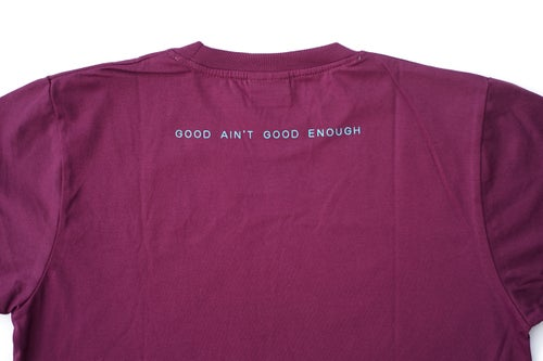 Image of LANSI Basic Tee (Burgundy/Blue)