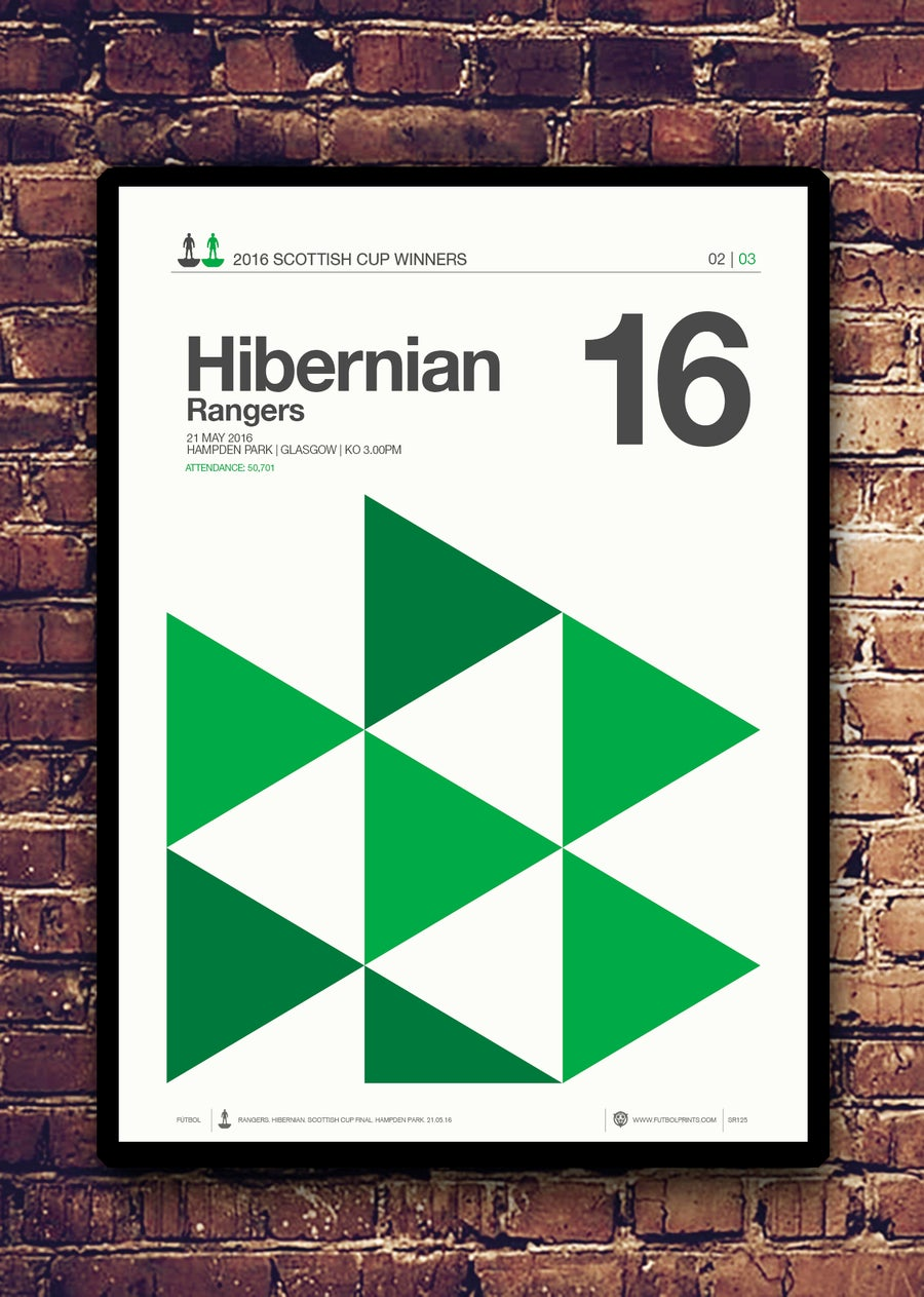 Image of HIBERNIAN - SCOTTISH CUP WINNERS 2016