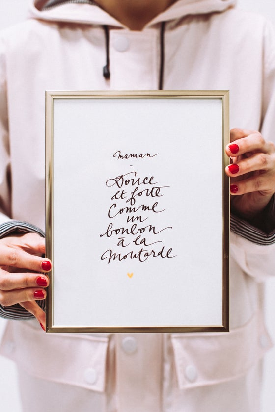 Image of CALLIGRAPHIE Maman douce