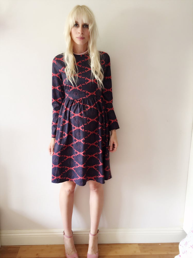 Image of Navy fun dress