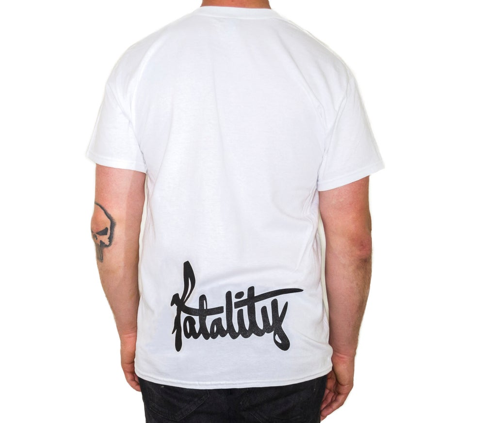 Image of Fatality Logo F&R T-shirt (large back print)
