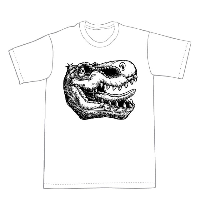 T-Rex Dino head T-Shirt (B2)**FREE SHIPPING**