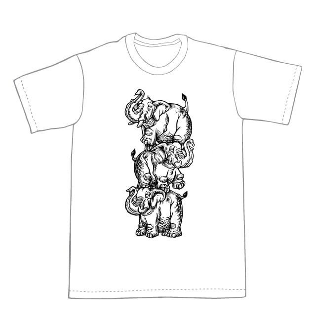 Image of Elephant Tower T-shirt **FREE SHIPPING**