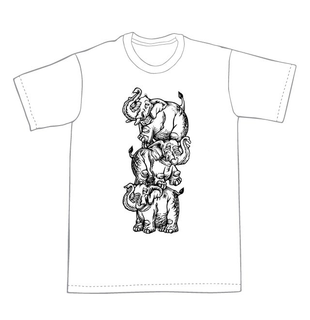 Elephant Tower T-shirt (A2) **FREE SHIPPING**