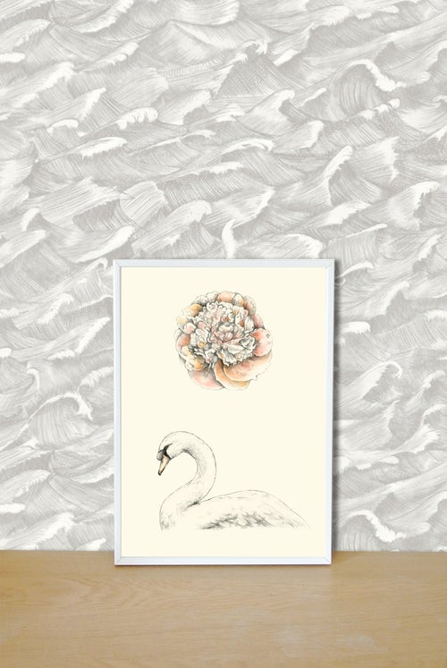 Image of Affiche A4 Cygne