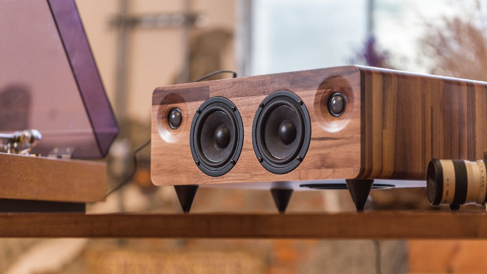 Image of MIN7 : The Multi-function Handmade Wooden Speaker-walnut