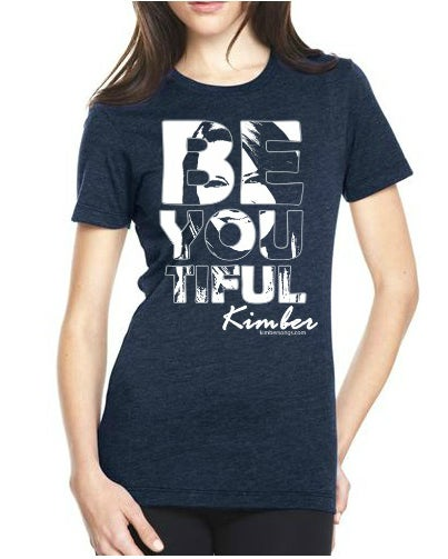 Image of BeYouTiful Girl's Tee - Available in Blue and Charcoal
