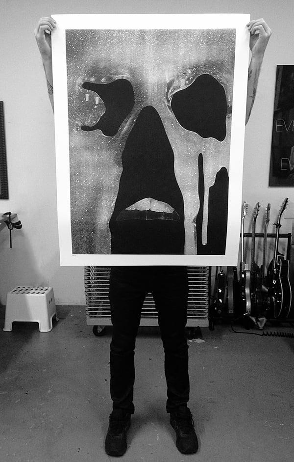 "Jesse Draxler - ""untitled (diamond dust), 2016"" - 1 Color Screenprint - Edition of 6 - Misc. Press"