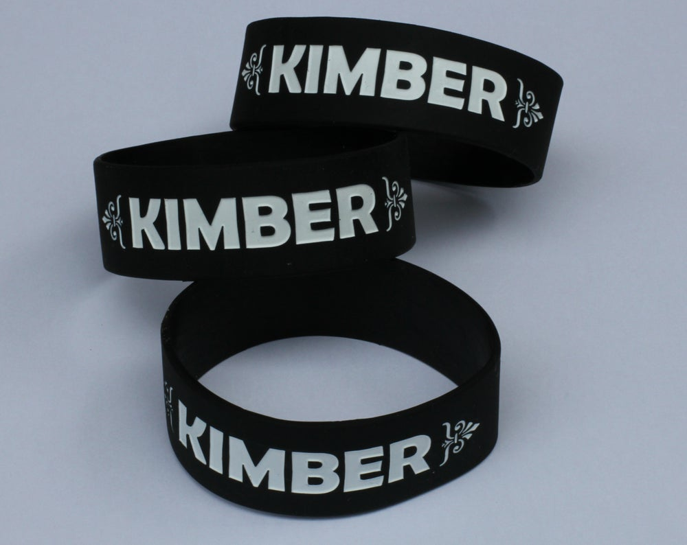 "Image of ""Kimber"" Rubber Bracelet - Available in Black, Blue, Pink, and Green"