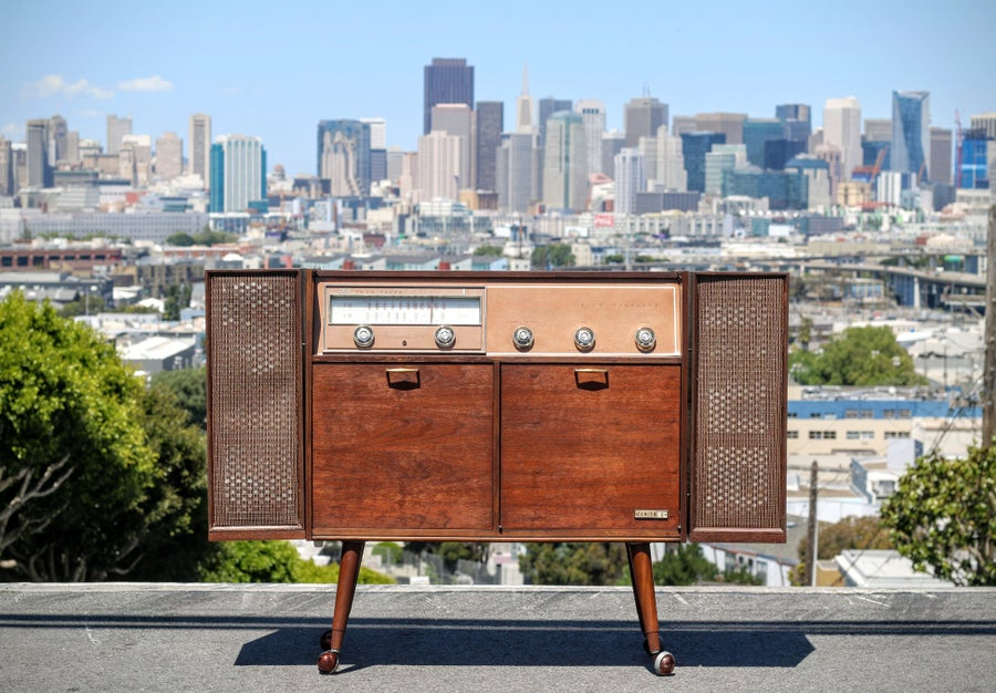 Image of Refurbished RARE Mid Century Modern Zenith Stereo Console