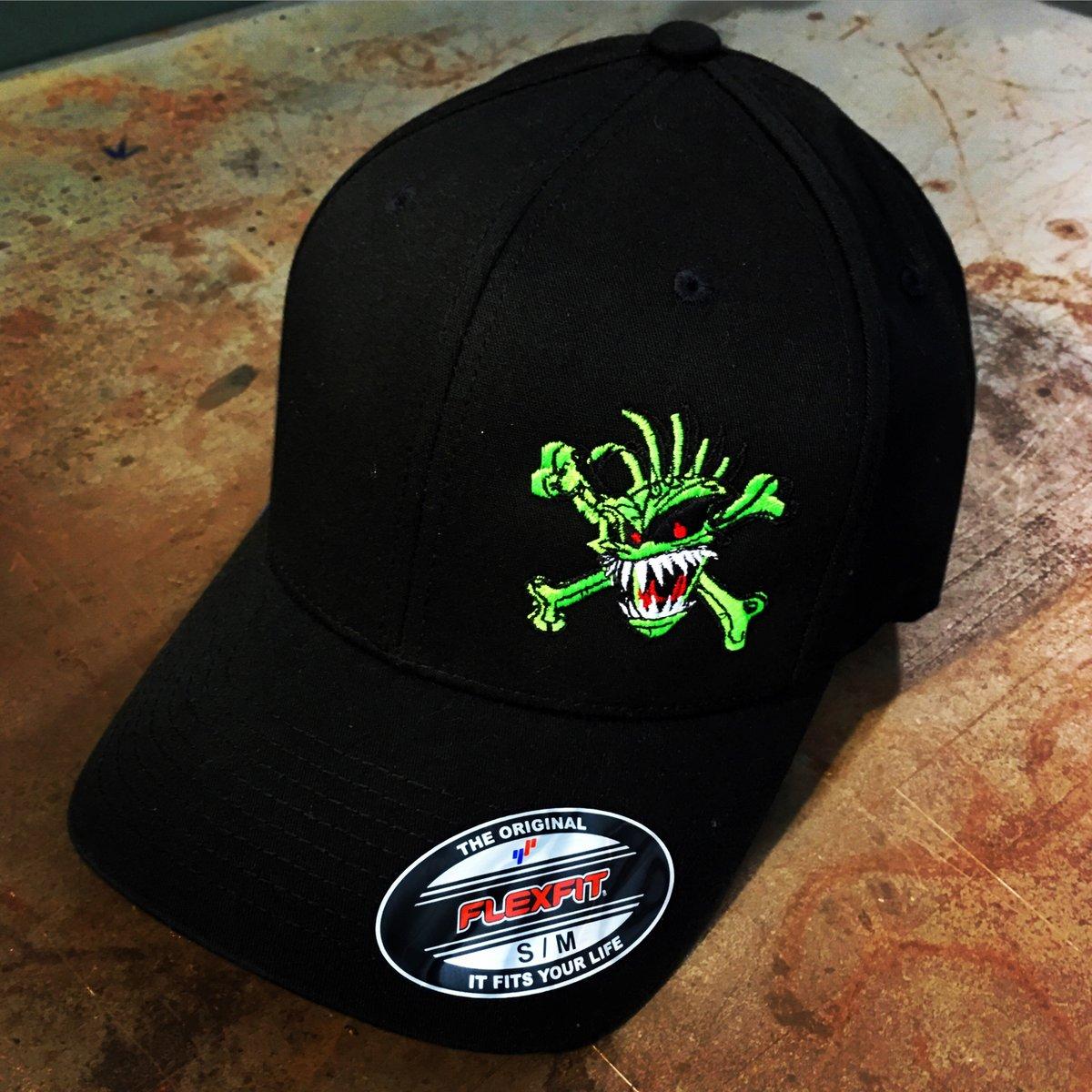 Image of Green Skull FlexFit