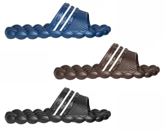 Image of HG Deluxe Comfort Solarsoft Massage Slippers Slides