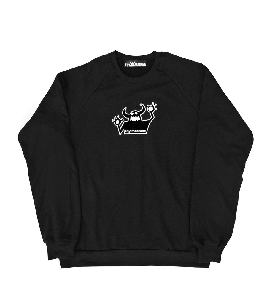 Image of TOY MACHINE_OG MONSTER REISSUE RAGLAN SWEATSHIRT :::BLACK:::