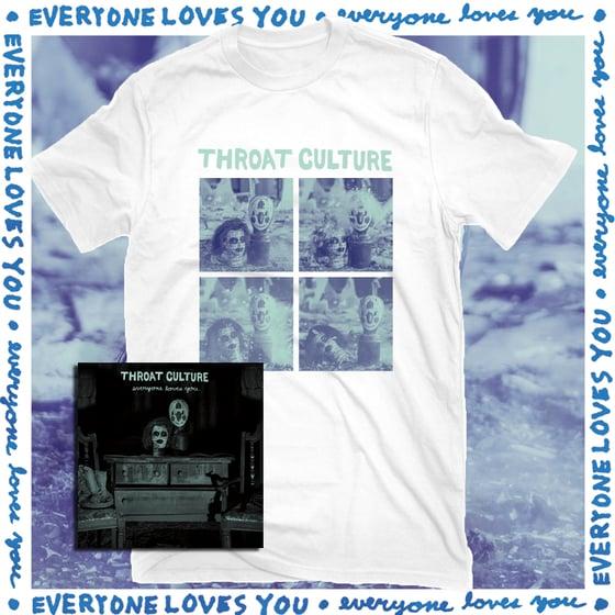 "Image of Throat Culture - Everyone Loves You 7"" + shirt bundle"