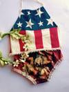 American Flag Halter Top
