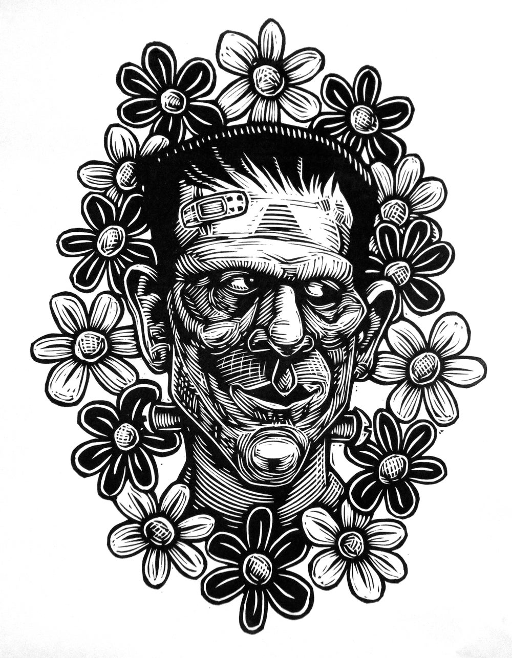 FrankenFlowers T-shirt (A2)**FREE SHIPPING**