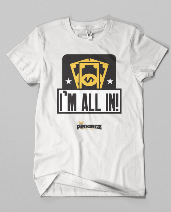 Image of Pinkingz Bowling T-Shirt - Im All In - Bowling Pots, Bowling Love Doubles, Bowling Brackets