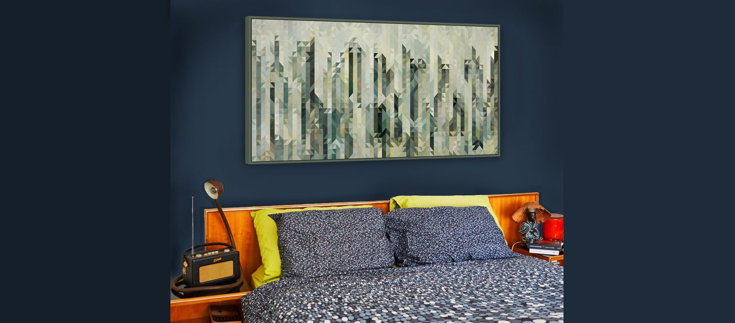Image of Squint Abstract Cityscape Print - 4